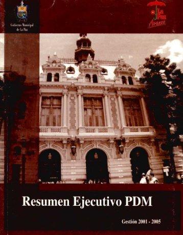 Page 1 Page 2 RESUMEN EJECUTIVO PLAN DE DESARROLLO ...
