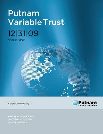 Putnam PVT annual report - Putnam Investments