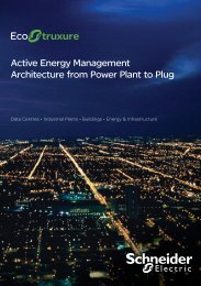 Active Energy Management Architecture from ... - Schneider Electric