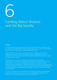 6. Funding Advice Services and the Big Society - One East Midlands