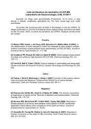 Lista de literatura do seminário LA-ICP-MS Laboratório de ...