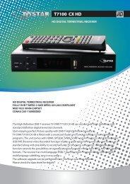 T7100 CX HD - TV STAR