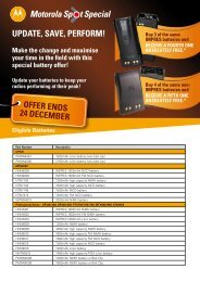 Pacific Islands Spot Special - Motorola Solutions