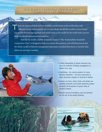 Sustainability Standards Comparison Fact Sheet - Alaska Seafood ...