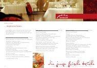... die junge frische Küche j g f - Hotel Haverkamp