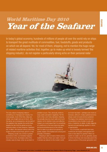 Year of the Seafarer - Martin's Marine Engineering Page