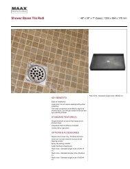 Shower Bases Tile Redi - Maax