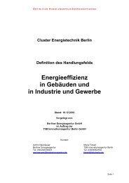 Energieeffizienz in Gebäuden und in Industrie und Gewerbe