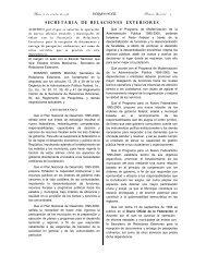 SECRETARIA DE RELACIONES EXTERIORES - Secretaría de ...