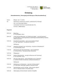 Einladung - Sächsisches Staatsministerium für Umwelt und ...