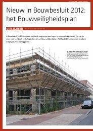 Nieuw in Bouwbesluit 2012: het Bouwveiligheidsplan