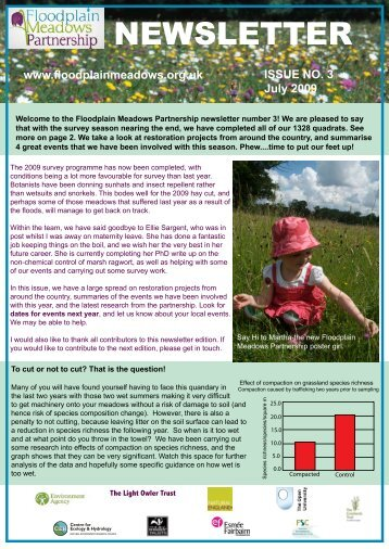 Newsletter 03 - July 2009 [pdf] - Floodplain Meadows Partnership