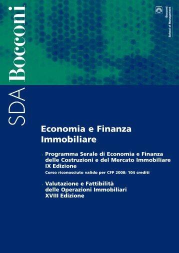 Economia e Finanza Immobiliare - SDA Bocconi