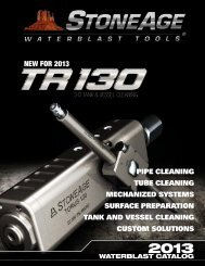 to view the complete waterblast tool catalog - StoneAge Inc