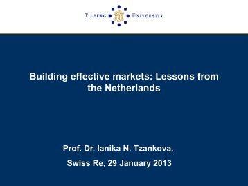 The Netherlands: The settlement approach