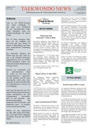 TKD-NEWS Nr. 4 - Mudokwan Center Wien