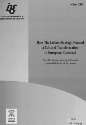 Does The Lisbon Strategy Demand A Cultural Transformation In ...