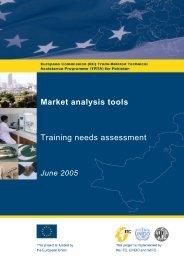 Market analysis tools Training needs assessment - TRTA i