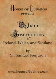 Ogam Inscriptions in Ireland, Scotland, and ... - House of Dubhros