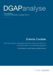 Entente Cordiale - Deutsch-Französischer Zukunftsdialog