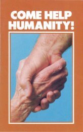 Come Help Humanity PDF - Church of God Faithful Flock