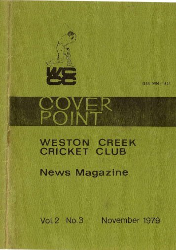 WESTON CREEK CRICKET CLUB News Magazine