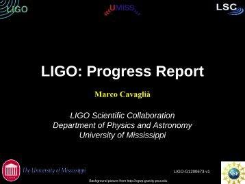 Gravitational Wave Detection With LIGO - centra