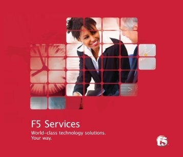 F5 Services Brochure - F5 Networks