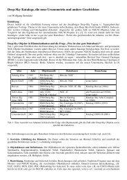 Deep-Sky Kataloge, die neue Uranometria und andere Geschichten