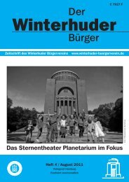 der WBV Bel. 5/09 - Winterhuder Bürgerverein