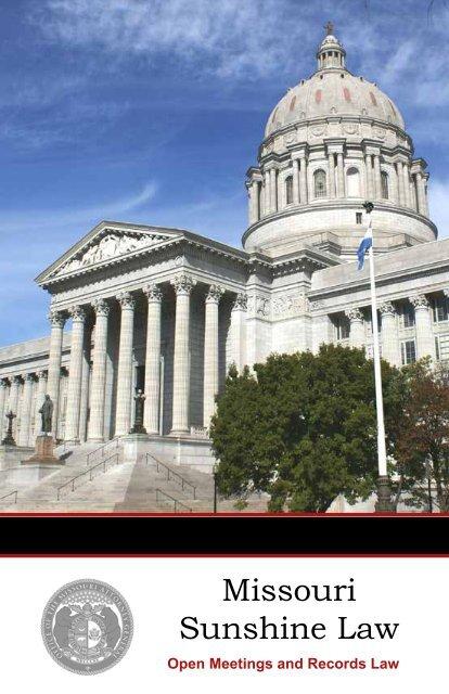 Sunshine Law - Missouri Attorney General