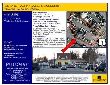 POTOMAC - Commercial Properties By Saul