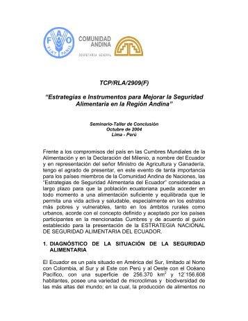 Estrategias e Instrumentos para Mejorar la Seguridad Alimentaria ...