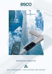 PRODUKTINFORMATION - esco Metallbausysteme GmbH