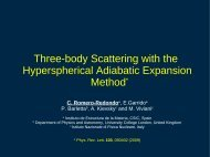 Three-body Scattering with the Hyperspherical Adiabatic ... - FB19