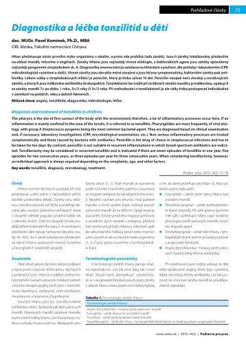Diagnostika a léčba tonzilitid u dětí - Solen