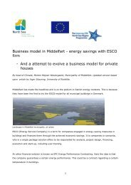 Business model in Middelfart - energy savings with ESCO firm - And ...
