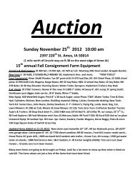 Sunday November 25 2012 10:00 am - Lynch Auction Company