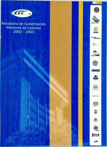 Memoria - 2002-2003