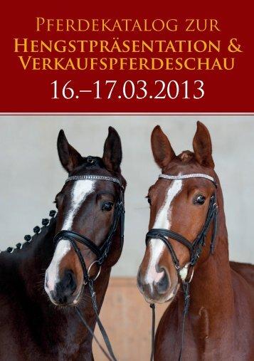 Download Verkaufspferdekatalog 2013 - Zucht- und ...