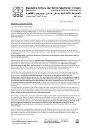 Kairo, den 26. Mai 2005 Elternbrief Nr. 5/ Schuljahr ... - DSB | Kairo