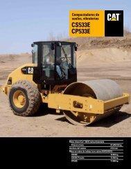 Compactadores de suelos, vibratorios, CS533E y CP533E