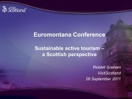 Policy opportunities to foster sustainable tourism - Euromontana
