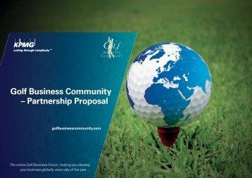 Partnership Proposal for KPMG's Golf Business Community DEMO2 ...