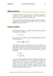 Dipolo elemental - Universidad Politécnica de Valencia