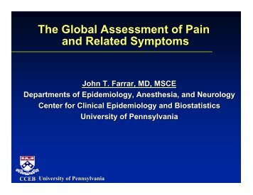 The Global Assessment of Pain and Related Symptoms - immpact