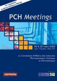 des Donneurs d'ordres présents à la précédente ... - PCH Meetings