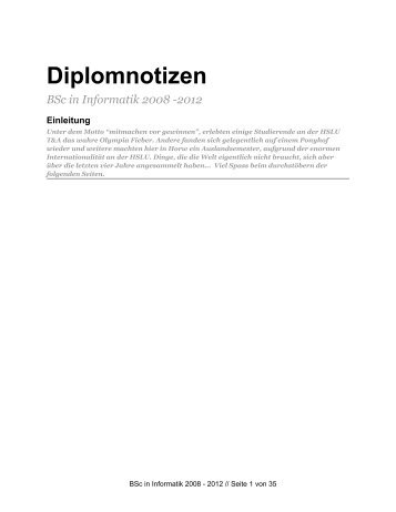 Informatik Diplomzeitung 2012 (PDF) - Enterprise Lab