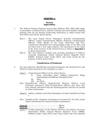 CHAPTER - Controller of Defence Accounts (Pensions)