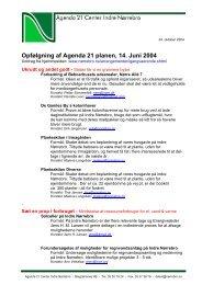 Opfølgning af Agenda 21 planen, 14. Juni 2004